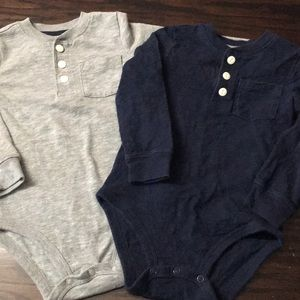 Long sleeve Henley's for the little one.